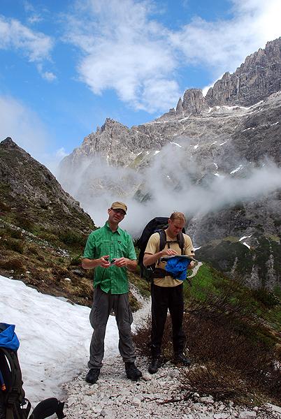Billeder fra vandretur i Dolomitterne...